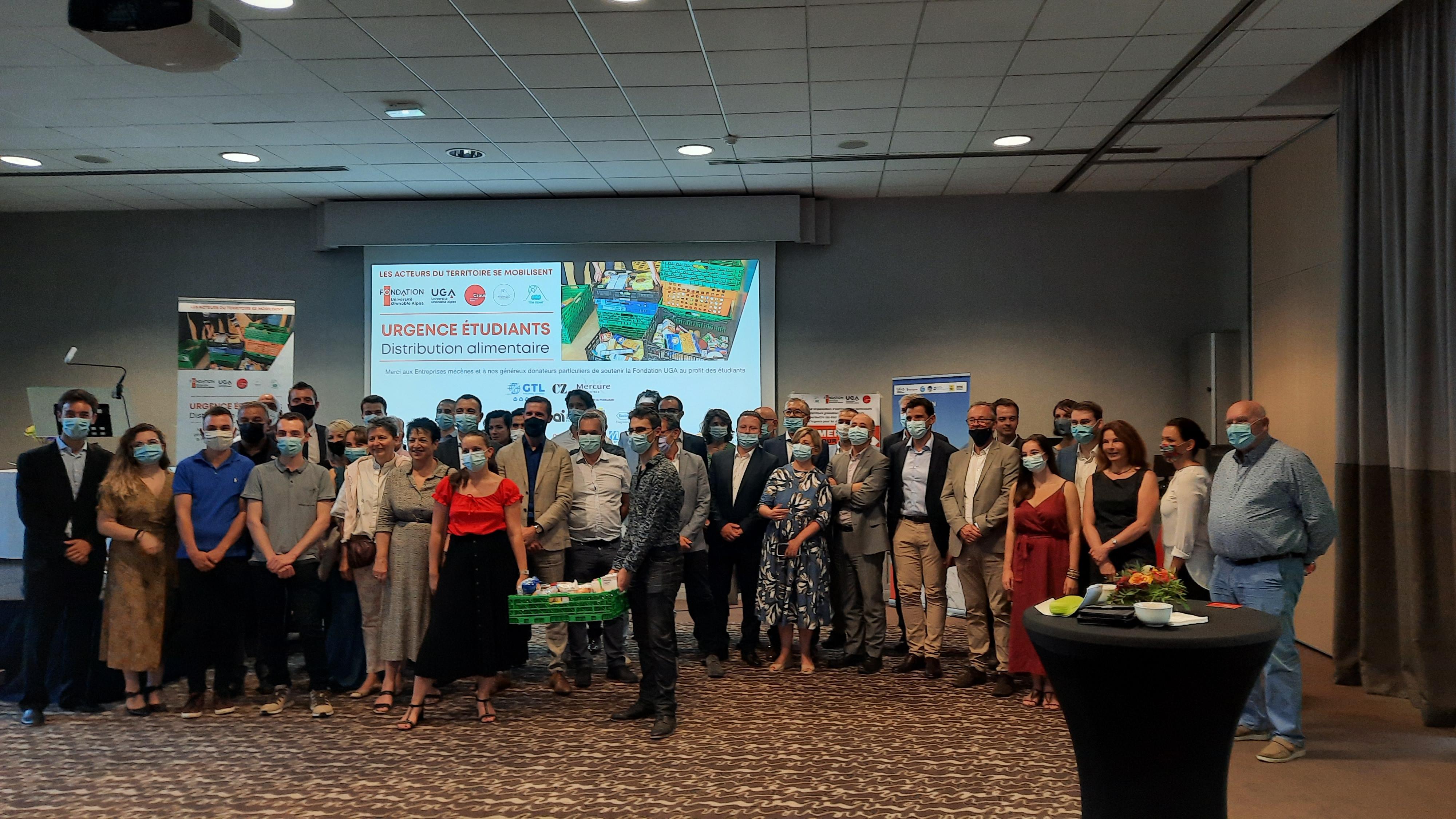 Donateurs campagne URGENCE ETUDIANTS - Distribution alimentaire à l'UGA