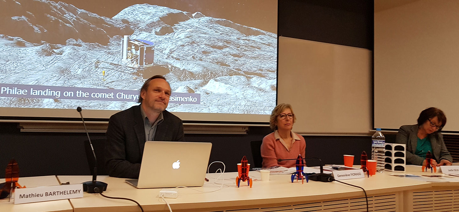 Mathieu Barthélemy et Geneviève Fioraso