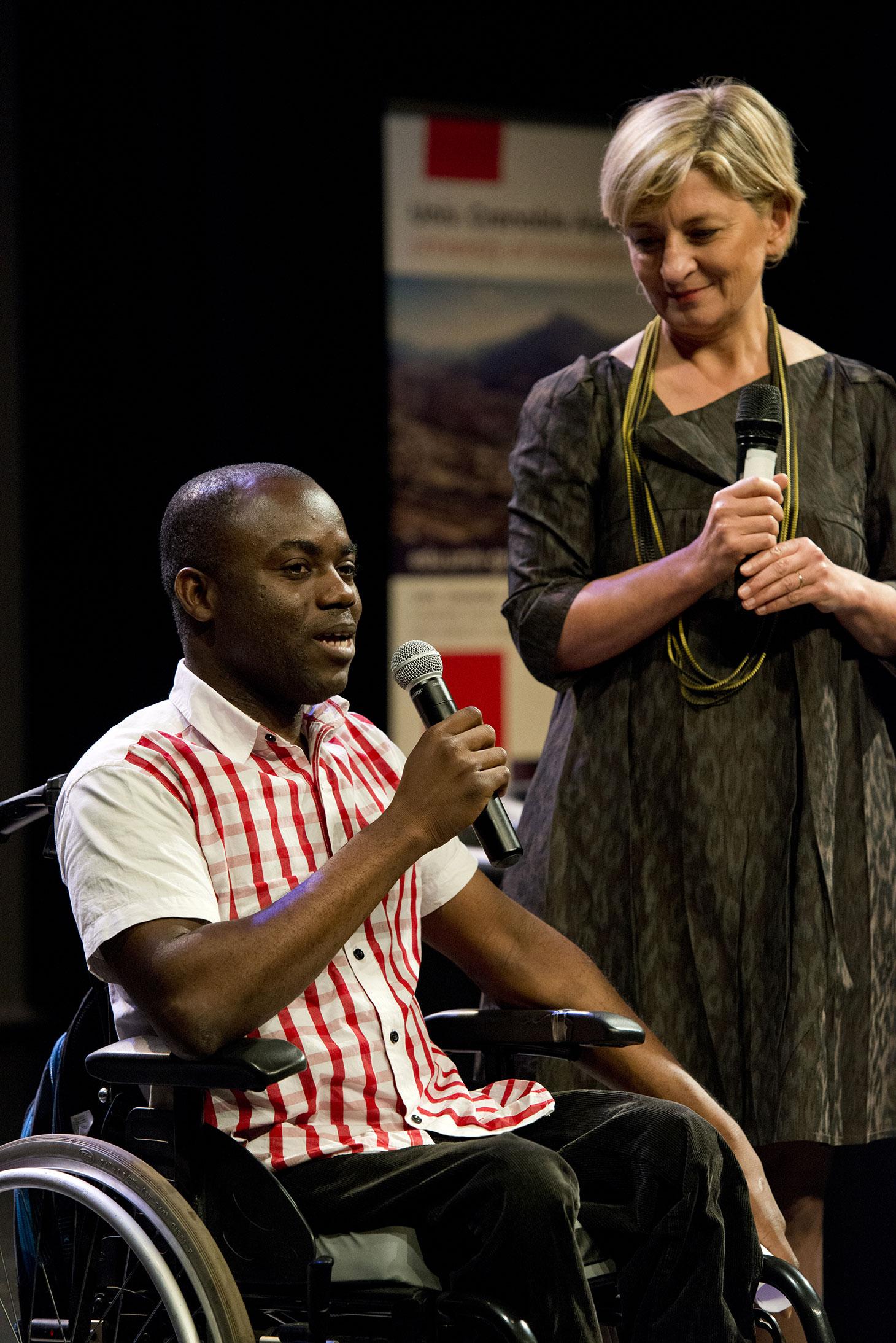 Gérard Kologo a expliqué que la bourse de la Fondation UGA allait lui permettre de financer son permis de conduire