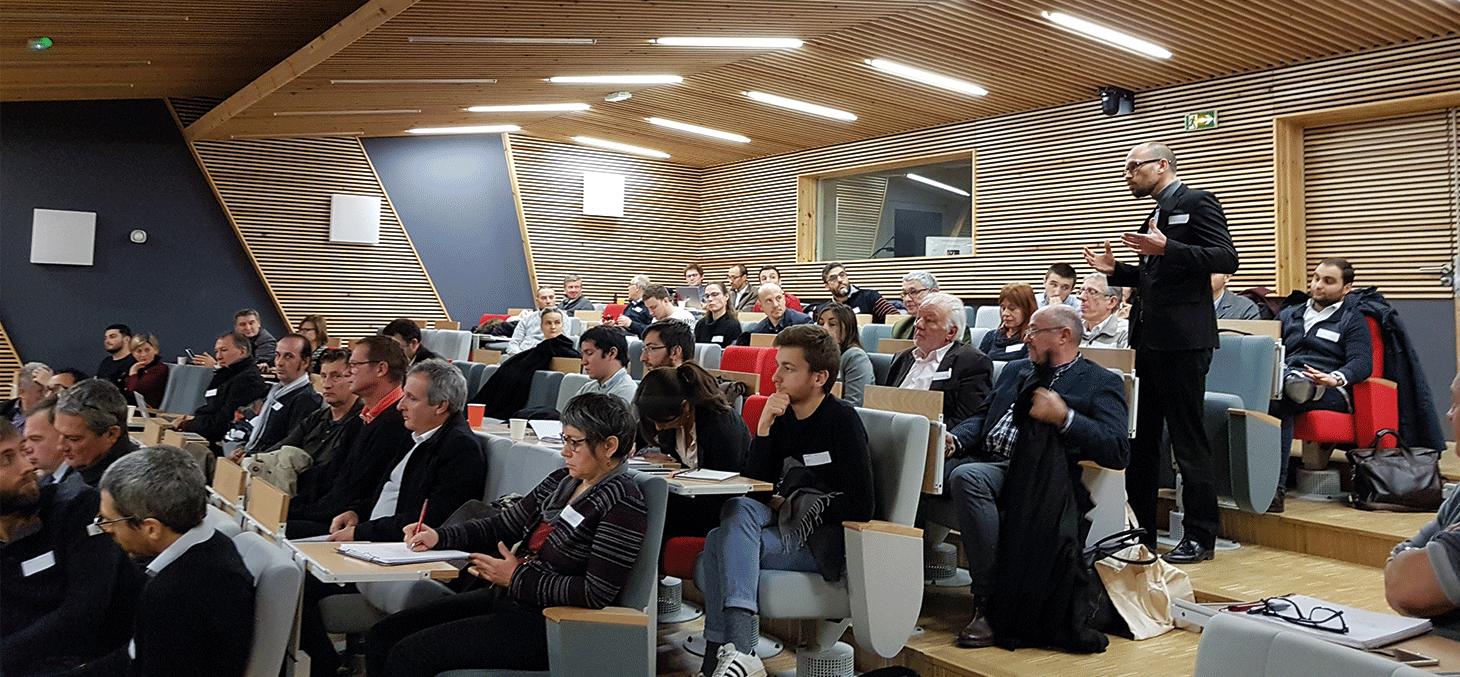 Rencontre avec des industriels autour du newspace, 4 décembre 2017© CSUG